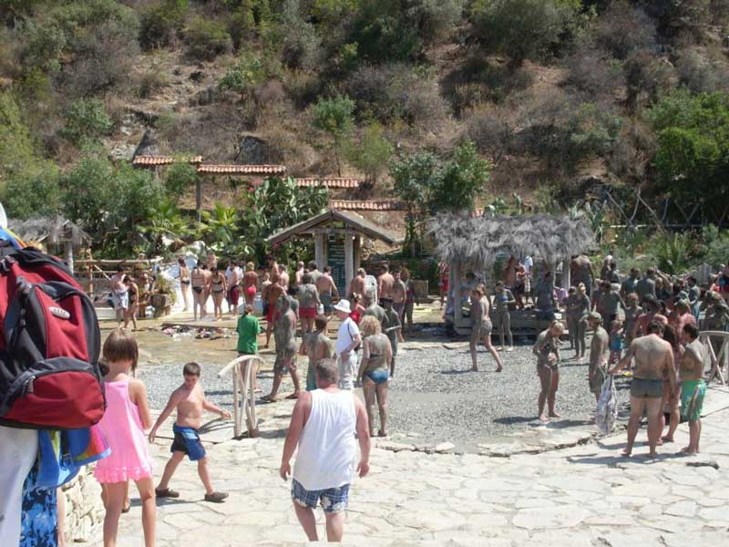 Turunç Boat Trips - enjoying the mud baths on the Dalyan day cruise