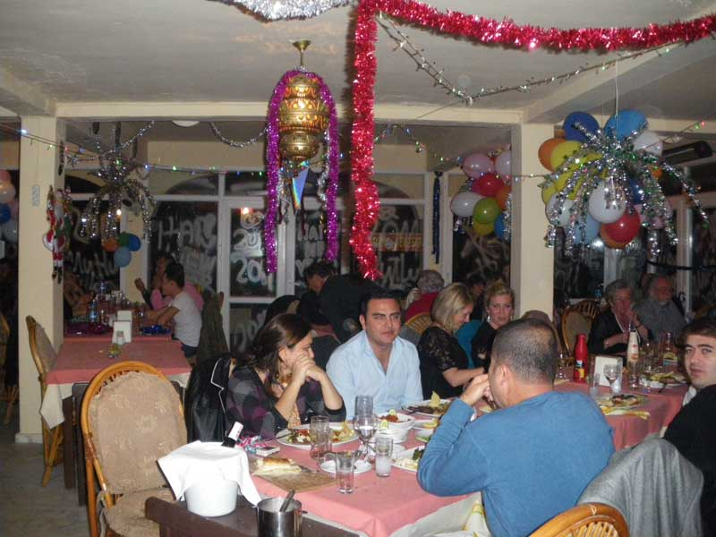 New Year's Eve celebrations at Körfez Restaurant