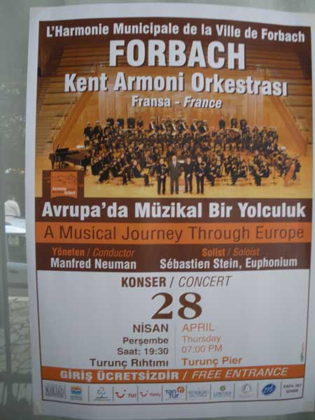 Culture in Turunç - the visit of the French Kent Armoni Orchestra of Forbach