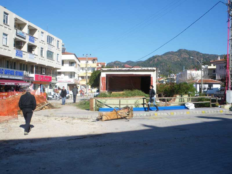As one gets built another gets demolished in Marmaris - this little cafe was a favourite