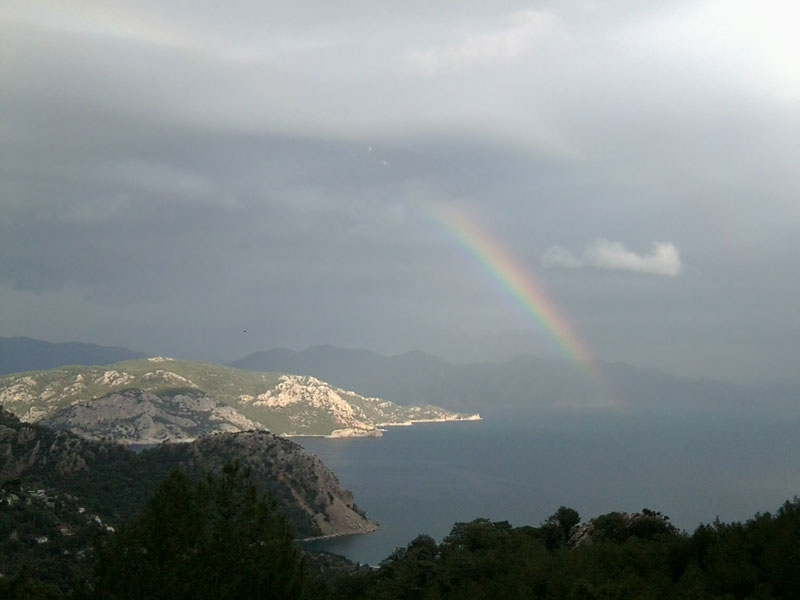 ... and the subsequent rainbow over Turunç