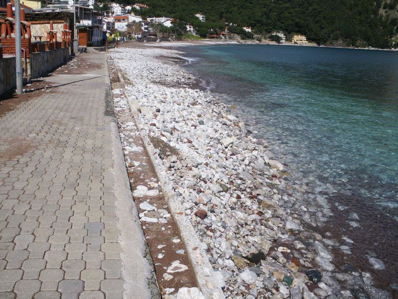 High tides at Turunç beach