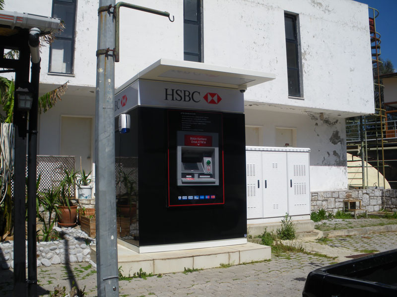 New (space-age) HSBC ATM - let's hope it's more reliable than the previous one!