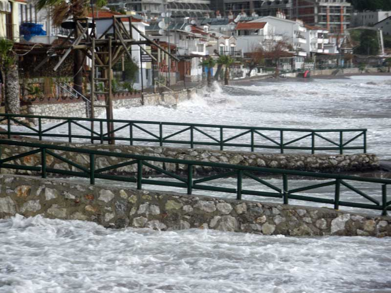 Wild weather at Turunç beach