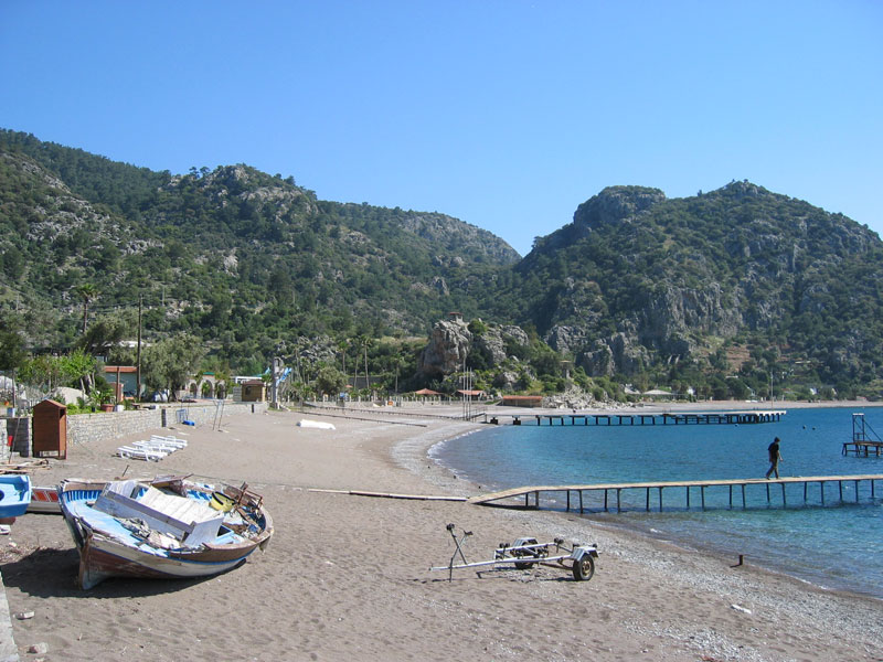 Çiftlik beach in the early season