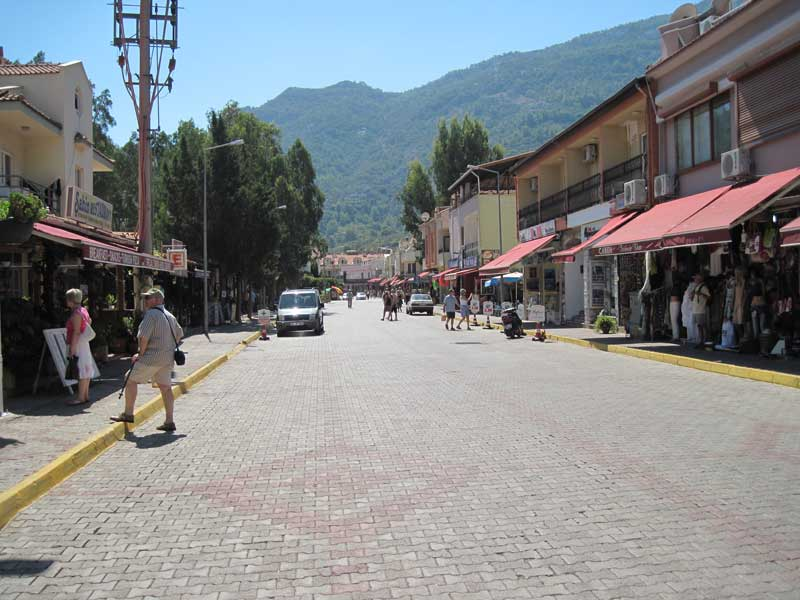 Turunç Village - looking down the main street